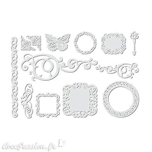 Paper Frame-12Schablonen-Papier weiß © Stamperia sba335