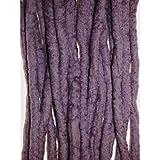 Rastas hechas a mano de lana, brezo: rastas de lana merino de doble punta