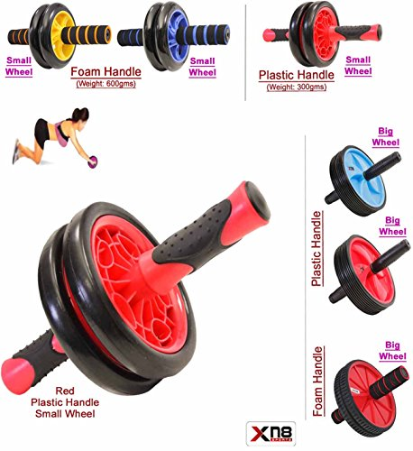 Abs Wheel dual Exercise Roller Abdominal Gym Home Training Body Fitness Slim Trim Tone Exerciser Back Thigh Arms Waist Workout Machine