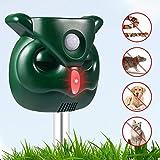 AngLink Version 2019 Solar Katzenschreck Doppelter Ultraschall abwehr mit Batteriebetrieben und Blitz Empfindlichkeit Wetterfest Hundeschreck Tiervertreiber