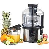 VonShef Professional 800W Whole Fruit Power Juicer - Free 2 Year Warranty - with Wide Feeding Tube, Juice Jug & Cleaning Brush