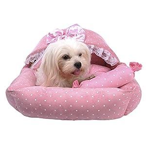 Molie Corbeille/panier couchage lit chenil maison pour chien ovale à bord tressér avec une large entrée 50*53*32CM