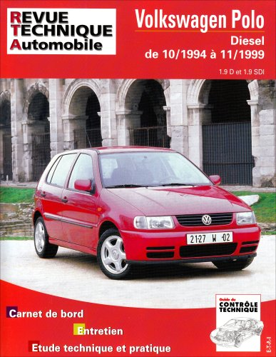 Revue Technique 611.1 Vw Polo Diesel 1.9 d 1.9 Sdi 10/94 a 11/99