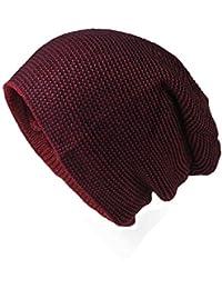 Glamexx24 Bonnet Long d hiver pour Hommes Bonnet tricoté pour Femmes avec  Doublure en Polaire 258bd9cead7