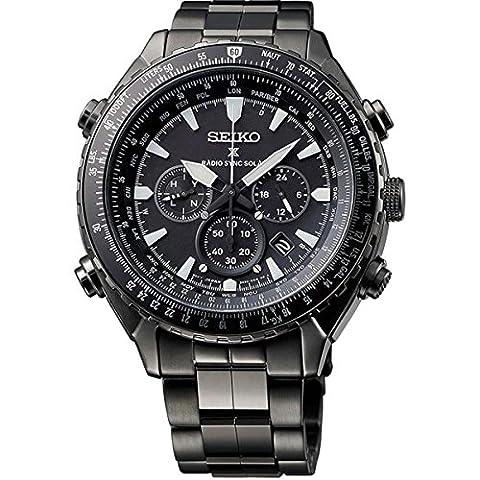 Seiko Herren-Armbanduhr Chronograph Quarz Edelstahl