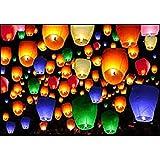 Anmol Premium Quality Sky Lantern Wish Candle Multi Pack Of 100