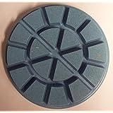 Diamant de polissage pour une utilisation humide ou sec sur béton, marbre ou Granite sols. 80mm Diamètre Velcro Dos. 6mm Profondeur de couche.