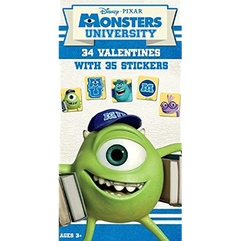 Paper Magic Monster University Deluxe Valentine Cards with Bonus Stickers (34 Count) by Paper Magic