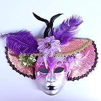 Máscara veneciana de bufón, estilo vintage para disfraz de Halloween, cosplay, para fiestas