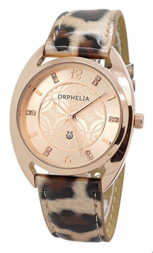 Damen-reloj analógico de cuarzo ORPHELIA cuero 122-1721-77