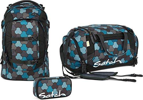 satch-set-per-la-scuola-3-pezzi-pack-ocean-flow-9-f7-blu-a-pois-grigi