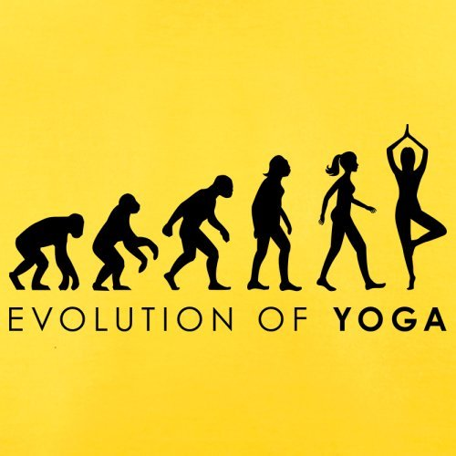 Evolution of Woman - Yoga - Herren T-Shirt - 13 Farben Gelb