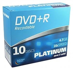 Platinum 102566 DVD+R Disques vierges 16x 4,7GB 10er Slim Case