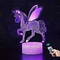 Unicorn Gift Unicorn Night Light for Kids, 3D Light lamp 7 Colors Change with Remote Holiday and Bir (Unicorn5)