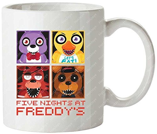 Five Nights At Freddy'S Group Cute Horror Fnaf Bonnie Foxy Cool Mug Tea Cup