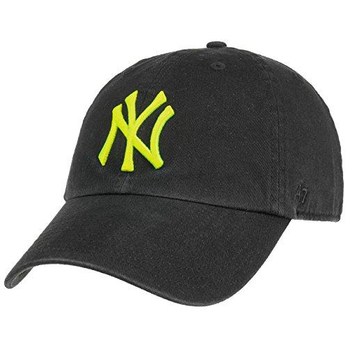 47 Brand Clean up Yankees Neon Cap Baseballcap Basecap Strapback MLB NY New York (One Size - Schwarz-Gelb)