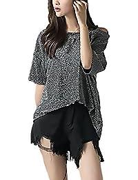 Lanceyy Tshirts De Mujer Elegantes Chic Manga Corta Blusa Sin Sencillos Especial Tirantes Verano Fashion Casual