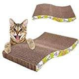 Sage Square Jumbo Size Scratching Board/Scratch Pad Cum Healthy Toy with Catnip for Cat/Kitten/Puppy