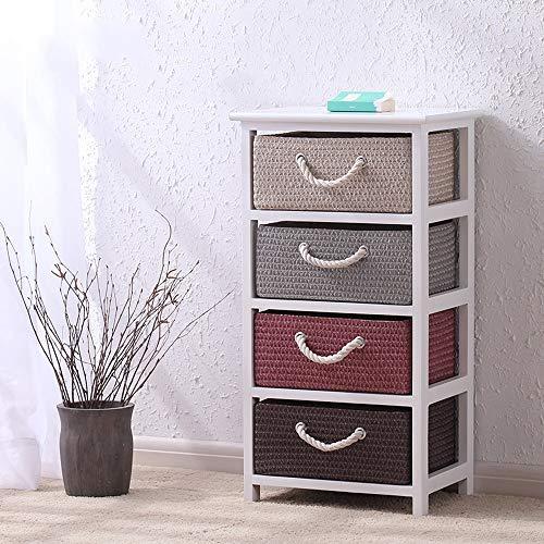 BJL-Nachttisch Nachttisch, einfache Rattan Schrank Multi-Schublade große Kapazität Schlafzimmer Garten Nachttisch, geeignet for Wohnzimmer/Schlafzimmer/Arbeitszimmer, 3 Größen zur Auswahl OYO -