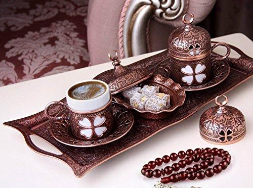 Juego de café árabe expreso turco superior del café express (marrón antiguo)