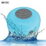MOKE Dusche Lautsprecher Wasserdicht Portable Stereo Bluetooth 3.0 Lautsprecher (Build-in-Mikrofon, weiche Saugnapf, 6 Stunden Spielzeit) für Kompatibel mit Android & IOS Smartphones, Touchpad, Laptop und andere Bluetooth-Geräte--Bleu