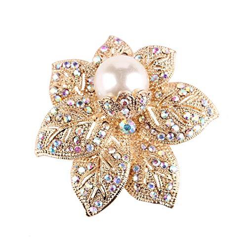 Laylae Spilla Brooch Moda retrò Perla Spilla Fiore Femmina Fascia Alta del Torace Temperamento Elegante Delicato Accessori Diamante