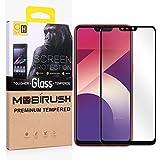 Mobirush Gorilla Edge to Edge|| Full Glue || Full Gum || 5D Full Cover ||No Rainbow Effect|| Anti Fingerprint Tempered Glass Guard for Oppo A3S (Black)