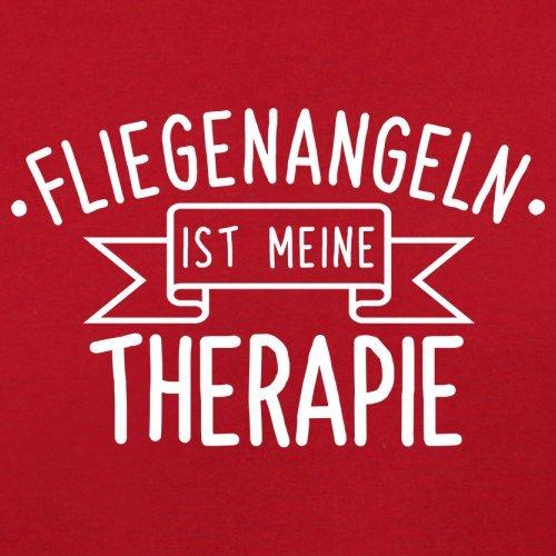 Fliegenangeln ist meine Therapie - Herren T-Shirt - 13 Farben Rot