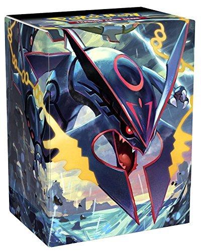 Shiny Mega Rayquaza Deck Box with Two Dividers for Pokemon Trading Cards (Pokemon Mega-card-box)