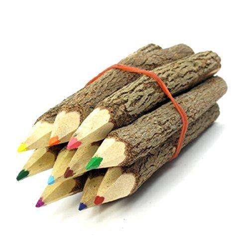 TOYANDONA 9-10cm farbige Ast Bleistifte Holz Zweig Bleistifte zum Zeichnen (gemischte Farbe) -