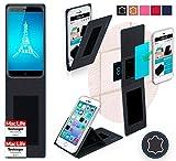 reboon Hülle für Ulefone Paris Tasche Cover Case Bumper | Schwarz Leder | Testsieger