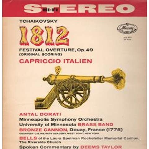 1812 FESTIVAL OVERTURE LP (VINYL ALBUM) UK MERCURY 1959
