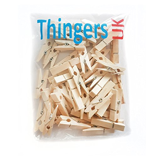 Mini Wooden Pegs 3.5cm - Pack of 50 - Natural Colour