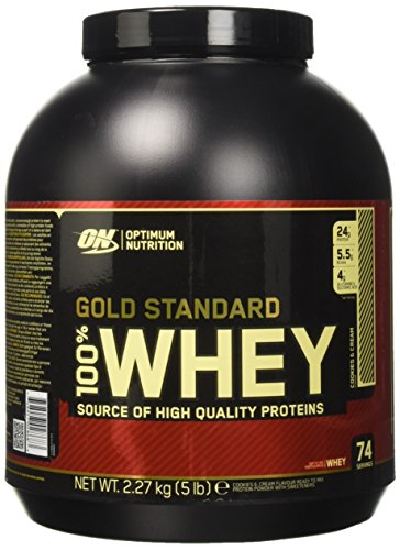 Optimum Nutrition 100% Whey Gold Standard Proteine del Siero di Latte in Polvere, Gusto Cookies And Cream - 2270 gr - 51vj8D%2BO1DL