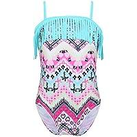 Alvivi Niña Traje de Baño Tirantes de Una Pieza Modo Estampado Bañador Chicas Tankini de Playa Bikini de Surf para Niñas Chicas 3-14 Años