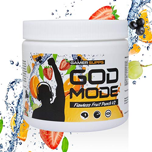 GAMER SUPPS God Mode Gaming Booster + Villain Perfect Shaker, Geschmack:Flawless Fruit Punch V2, Variante:The Joker -