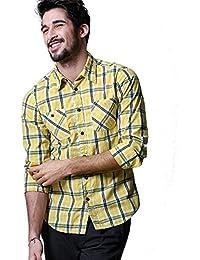 Match Men's Long Sleeve Plaid Shirt #G2305