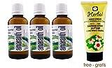 Set von 3Amaranth Öl–Bio Organic 100% Pure, insgesamt 150ml (je 50ml)–Cold Press, Extra Virgin, Premium Grade, unverdünnt Pure ohne andere Öle hinzugefügt, keine Basen, keine Träger, nur Amaranth Öl, VERSAND AUS Europa