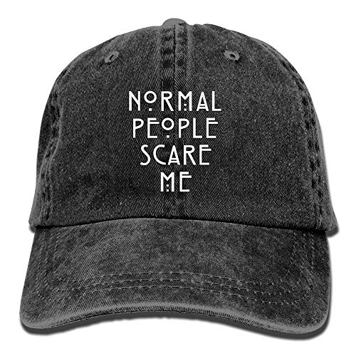 Men Women Classic Denim Normal People Scare Me Adjustable Baseball Cap Dad Hat Low Profile Perfect for Outdoor Classic Hat Earflap
