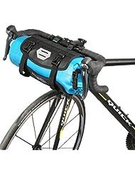 Roswheel Bolsa Delantera de Bicicleta, 100% Impermeable Bolsa para los Manillares de Bicicleta Apertura roll-up Poliéster Con Interfaz de Faros de Bicicleta