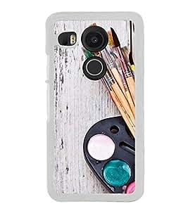 PrintVisa Painting Brushes High Gloss Designer Back Case Cover for LG Nexus 5X :: LG Google Nexus 5X New
