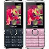 G'Five WP89 BlueOrange+G'Five WP89 RoseGold, (Combo Of 2) 2.4 Inch Dual SIM Mobile Phone With 2200 MAh Battery, Bluetooth, Wireless FM, Camera, LED Torch Light, Expandable Memory & 1 Year Manufacturer Warranty