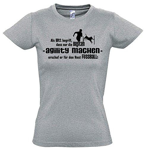 Siviwonder Gott Agility Hundesport No Fußball Hund Hunde - Women Girlie T-Shirt Sports Grey L -38