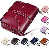 DAY.LIN Damen Retro Mini Diagonale Umhängetasche Vintage Geldbörse Tasche Leder Umhängetasche Umhängetasche