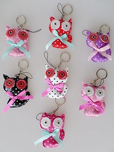 Schlüsselanhänger / Handyanhänger Katze 8 x 6 cm rosa-rot *NEU