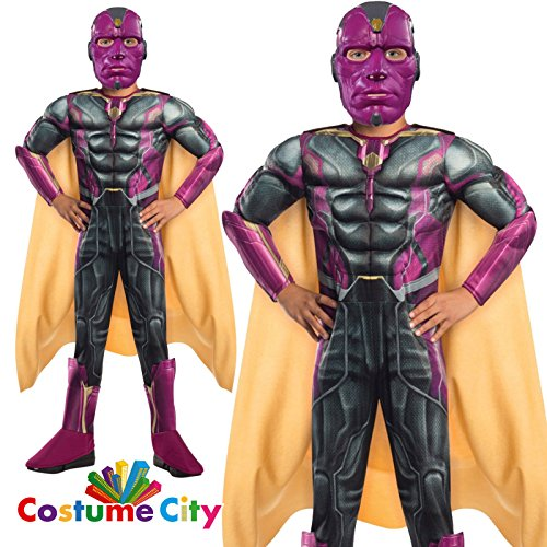 Vision Deluxe-Marvel Avengers 2 Kostüm Kinder Gr. (Vision Kinder Kostüme Deluxe)