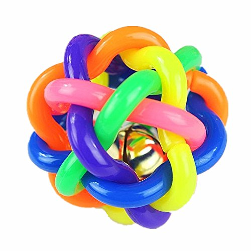 JMAHM Pet Toys Bunte geflochtene Kugel Gummi Kauen Ball Welpen Spielzeug Pet Supplies