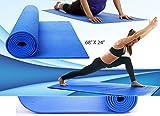 #2: Petrice Yoga Mat / Meditation Mat, 4 mm Thick, Anti Skid, Soft PVC, 172 X 60 Cm (Colour May Vary)