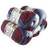 500g Strick-Garn Alize BURCUM Batik Strick-Wolle Handstrickgarn, Farbe wählbar,...