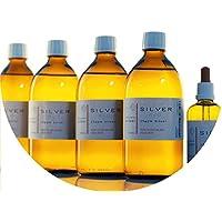 Preisvergleich für PureSilverH2O 2100ml kolloidales Silber (4X 500ml/25ppm) + Pipettenflasche (100ml/25ppm) Reinheit & Qualität seit...